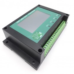 Caudalímetro Contador de Litros Totalizador con 4 Alarmas Programables y Entrada para reinicio