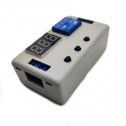 Relevador Temporizador Timer 12V Carga 220 ó 120VCA Control de Encendido por Tiempo