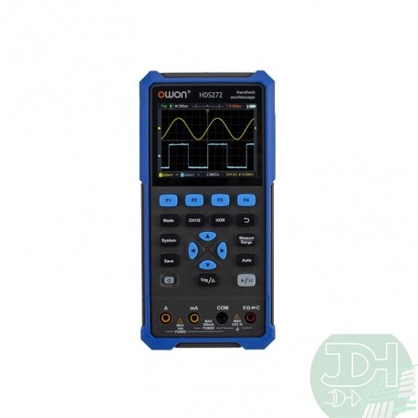 Portable Handheld Oscilloscope 2 channels 40MHz or 70MHz + Multimeter + Signal generator Brand OWON HDS2xx