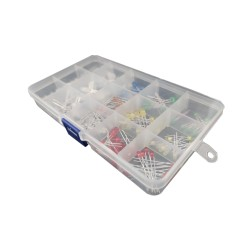 Pack with 150 Leds 10pz Of 15 Different Types and Colors + Tester