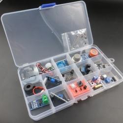 Kit de sensores y transductores analógicos para proyectos multisensoriales de laboratorio de electrónica o física