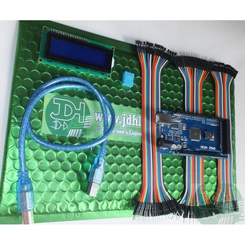 Kit Mega2560 + USB cable + Dupont jumpers + DHT11 sensor +