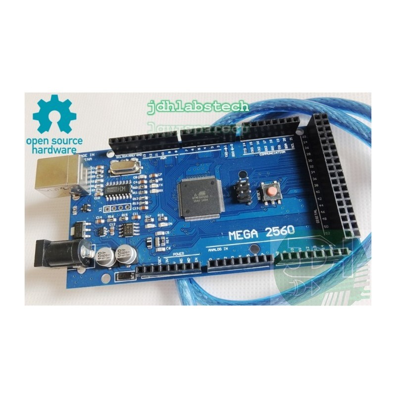 Mega board with usb cable compatible