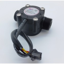 Liquid flow sensor flowmeter 1 to 30 liters/min DN15 G1/2""