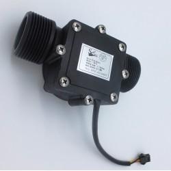 "Sensor de Flujo de Líquidos Caudalímetro 1 a 120 litros/min para tubería 1 1/4"" pulgada (DN32)"