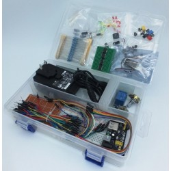 Basic Electronics Starter Kit: Beginner's proto kit with sensors and components
