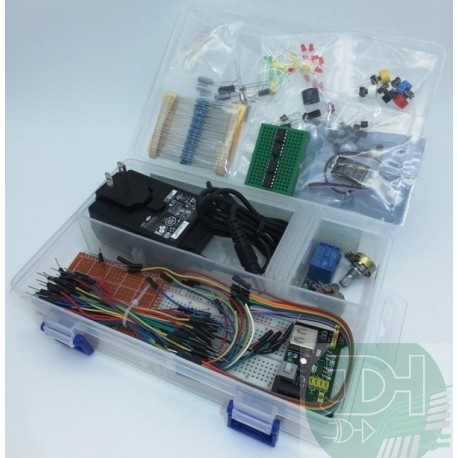 Starter Kit Electrónica Basico: Kit Principiantes con proto, sensores y componentes