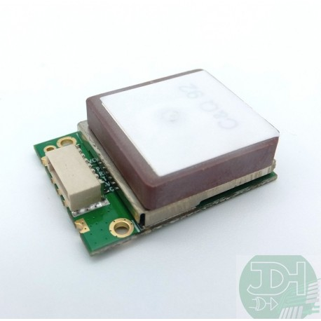 Compact GPS + Galileo module with embedded High sensitivity antenna TTL NEMA0803