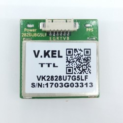 Compact GPS + Glonass + Galileo module with embedded High sensitivity antenna TTL NMEA0803