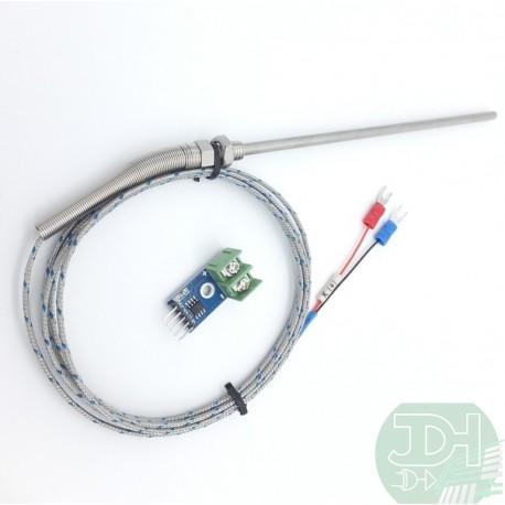 Sonda Termopar tipo K en acero inoxidable + módulo MAX6675