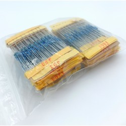 Resistor Pack 1% 1/4W 10x122 Values (1220 pcs)