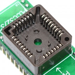 PLCC32 (9x7) to DIP32 ZIF socket adapter