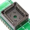 PLCC32 (9x7) to DIP32 ZIF socket adapter