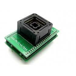PLCC44 to DIP44 ZIF socket adapter