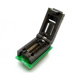 Adaptador de circuito integrado SOP28 a DIP28 en base zocalo ZIF
