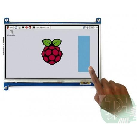 Pantalla Táctil LCD TFT 7 pulgadas 1024*600 entrada HDMI para Raspberry Pi