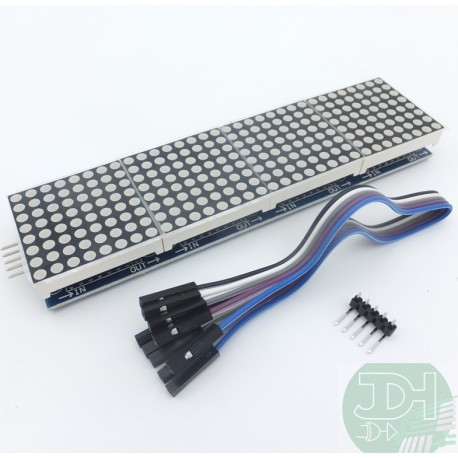 Electronic LED matrix illuminated signboard with four 8 * 8 modules