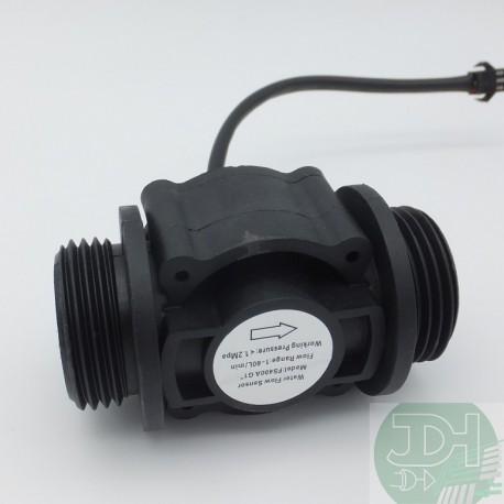 "Sensor de Flujo de Agua Caudalímetro 1 a 60 litros/min para tubería de 1"" pulgada"