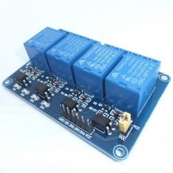 Módulo de 4 relevadores aislados por optoacoplador