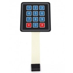 4x3 matrix membrane keypad -- 12 keys