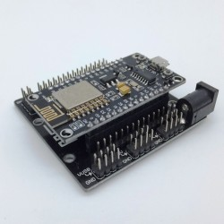 Nodemcu Chip Esp8266 Soc with Wifi + Base Connections board