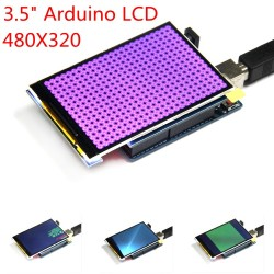 Pantalla de alta definición módulo LCD color TFT 320X480 de 3.5 pulgadas shield para UNO Mega2560 DUE