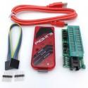 PICkit 3 Kit de programador ICSP: Programador, módulo adaptador con Socket ZIF y cables