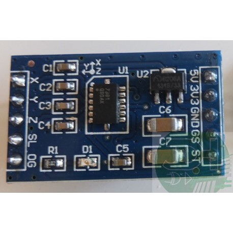 3-axis accelerometer module X-Y-Z Analog outputs MMA7361