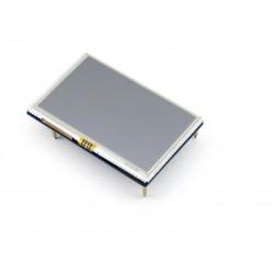Pantalla LCD entrada HDMI con interfaz táctil resistiva resolución 800*480 pixeles para Raspberry Pi