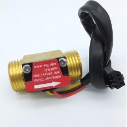 Sensor de flujo de agua hecho de cobre 1 a 25 litros/min NPT 1/2