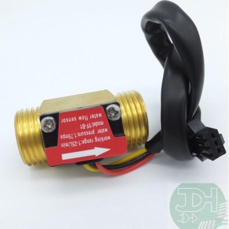 Coppermade Flowmeter sensor 1 to 25 liters/min NPT 1/2