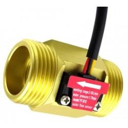 "Sensor de flujo de cobre 2 a 50 litros/min tubería 1"" pulgada (DN25)"
