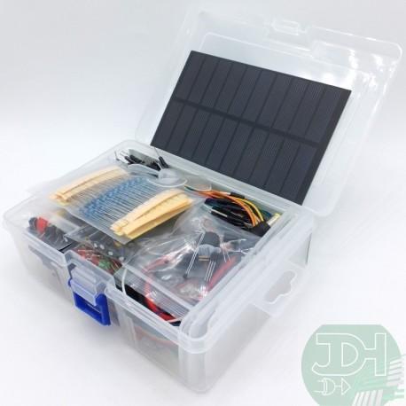 Kit de Electrónica Integral con Panel Solar y mucho más